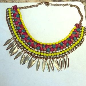 Francesca necklace with neon green